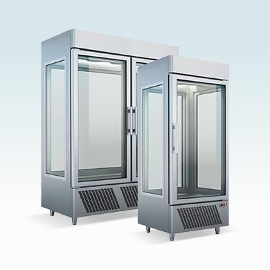 Upright refrigerated display