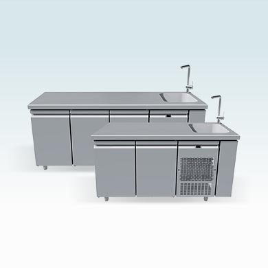 With sink 40x40
